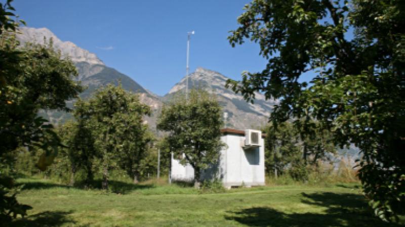 La station de mesure de la qualité de l'air à Saxon: pas de changements significatifs liés au coronavirus.