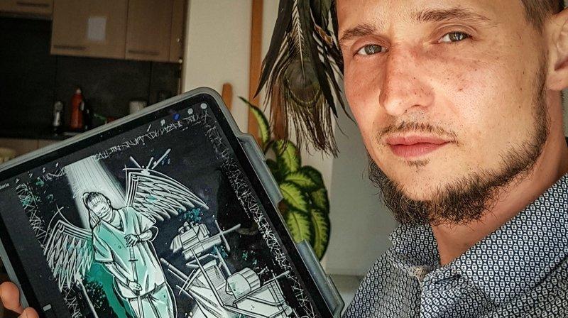 Coronavirus: il dessine pour mettre en lumière les héros de l'ombre et c'est poignant