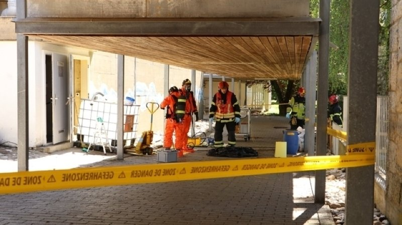 Fribourg: fuite d'acide sulfurique dans une piscine à Estavayer-le-Lac