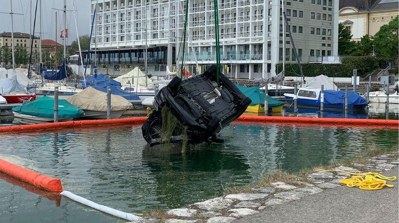 C'est près de l'Hôtel Beaulac que l'accident est survenu ce dimanche à Neuchâtel.