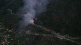 Une voiture prend feu sur la route de la Forclaz