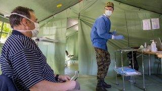 Coronavirus: à Sion, des militaires en première ligne face à l'épidémie