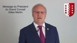 Coronavirus: le président du Grand Conseil exhorte les Valaisans à rester chez eux