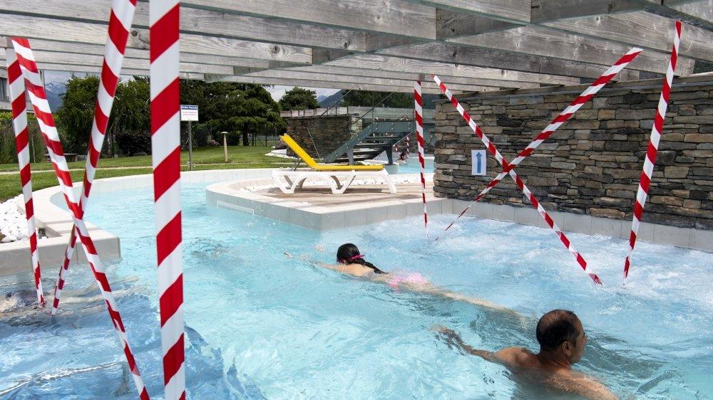 Les bains de Saillon ont réduit certains espaces, mais dans l'ensemble la sécurité dépend de la responsabilité de chacun.