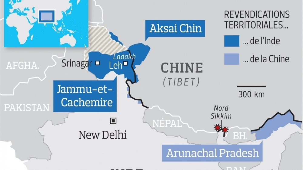 Frictions à la frontière entre l'Inde et la Chine
