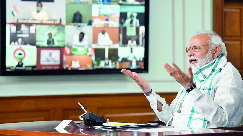 Selon Neta App, le premier ministre Modi est noté 3,5 sur 5 par ses concitoyens.