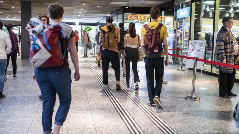 Les scènes de ce type se sont multipliées dans les magasins d'alimentation à travers la Suisse, surtout lors de l'annonce du semi-confinement.