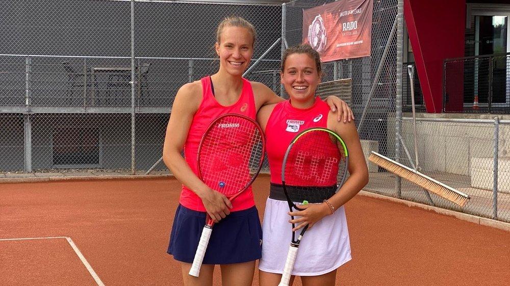 Ylena In-Albon (à droite) a été à un point de remporter le tournoi de Bienne.