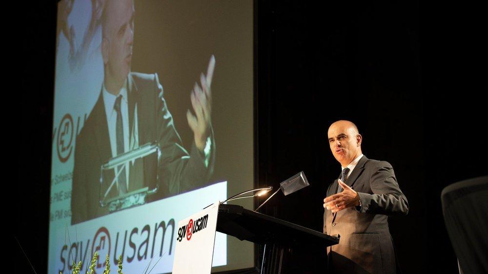 En introduction, Alain Berset a rappelé l'urgence de réformer le système de prévoyance.