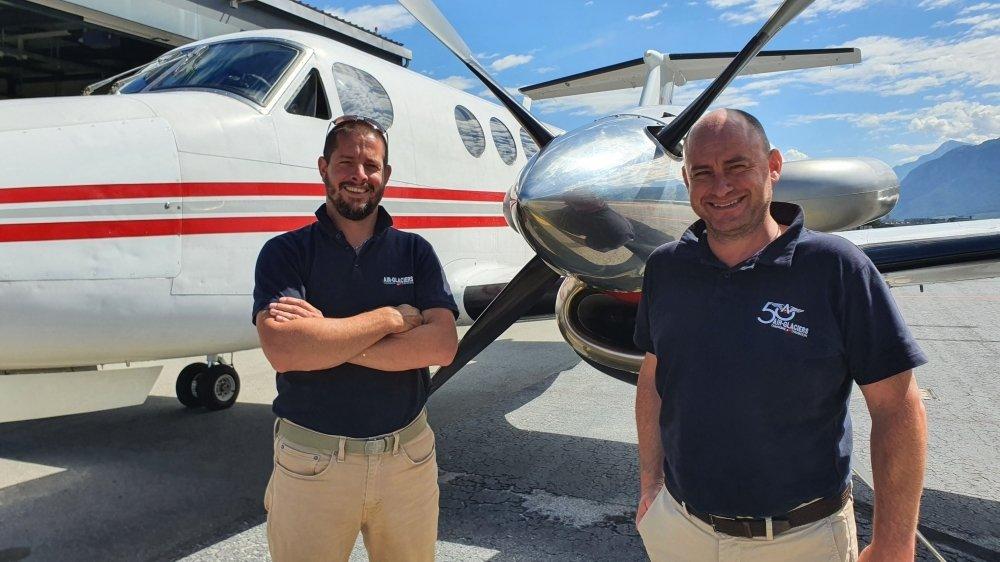 Les pilotes Guy Antoine Regamey, d'Ayent, et Raphaël Délèze, de Nendaz, ont repris les activités d'aviation d'Air-Glaciers, à l'enseigne d'Air Mountain.