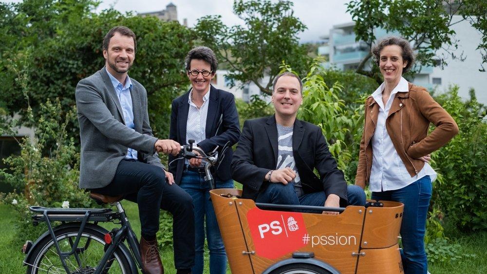 Florian Chappot, Johanne Guex-Crosier, Sébastien Salamolard et Virginie Crettenand sont les candidats du PS de Sion.