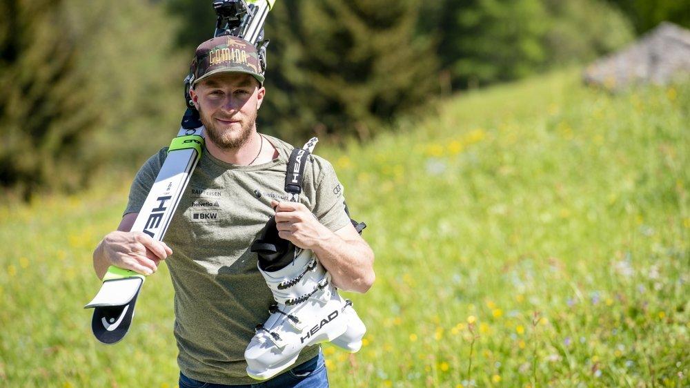 Justin Murisier a changé de marque. Le skieur de Bruson espère retrouver ses repères dès l'hiver prochain.