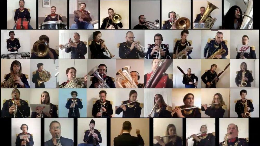 A l'image de l'Harmonie municipale de Sion, nombreuses sont les sociétés de musique valaisannes à avoir utilisé les réseaux sociaux pour poursuivre leur activité malgré le confinement.
