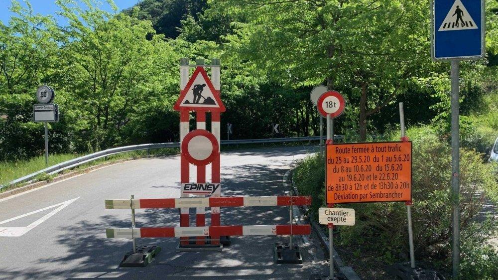 Route Martigny-Chemin fermée: restaurateurs et riverains tirent la langue