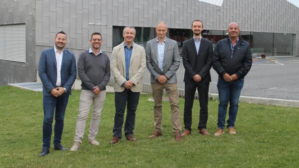 De gauche à droite: Julien Dubuis, Jean-Marie Cretton, Vincent Reynard, Frédéric Varone, Vincent Grange et Dominique Liand.