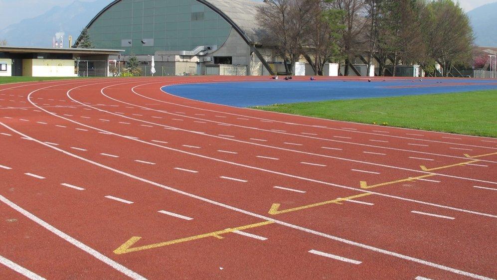 La piste d'athlétisme du complexe du Verney à Monthey attend ses premières compétitions officielles.