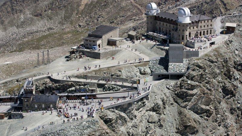 Le Gornergrat est situé à 3089 mètres d'altitude,