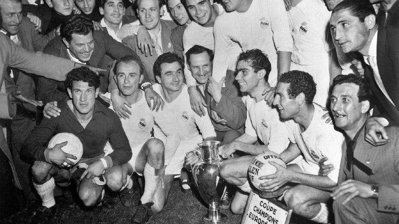 Les 40'000 spectateurs présents au Parc des Princes de Paris ce 13 juin 1956 ont vécu une finale d'anthologie entre le Real Madrid et le Stade de Reims. Les Espagnols se sont imposés 4 à 3 dans cette première édition de l'ancêtre de la Champions League.