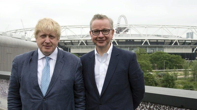 Le ministre d'Etat Michael Gove (à droite) en compagnie de Boris Johnson.