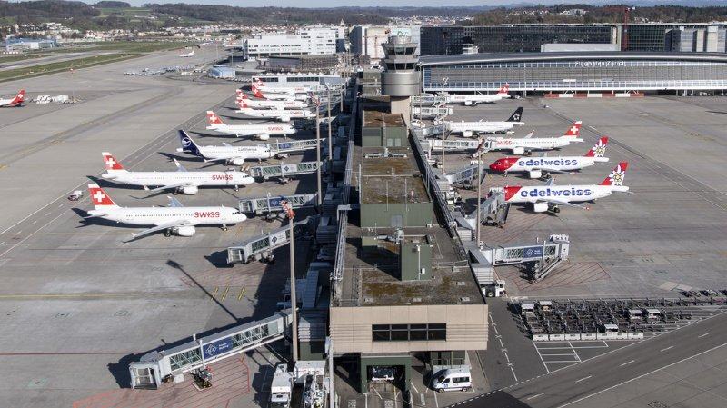 Aéroport de Zurich: effondrement du trafic confirmé en mai
