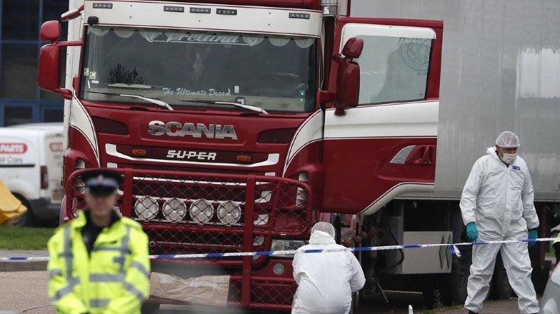 Les cadavres de 31 hommes et de huit femmes de nationalité vietnamienne avaient été découverts à bord d'un conteneur frigorifique à l'est de Londres en octobre 2019.