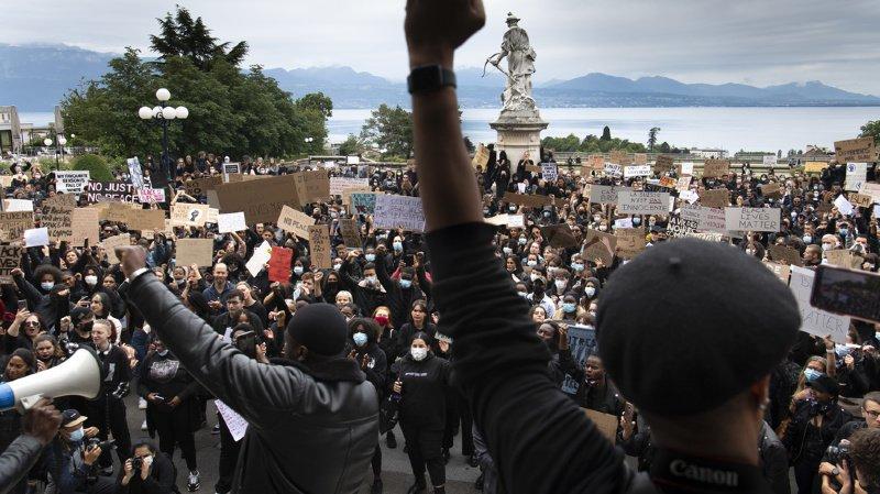 Mort de George Floyd: plus de 2000 manifestants à Lausanne contre le racisme