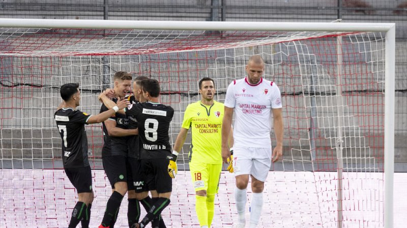 Super League: le FC Sion s'incline contre Saint-Gall pour ce premier match de reprise