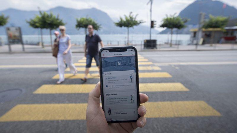 L'application SwissCovid est disponible depuis le 25 juin. (Illustration)