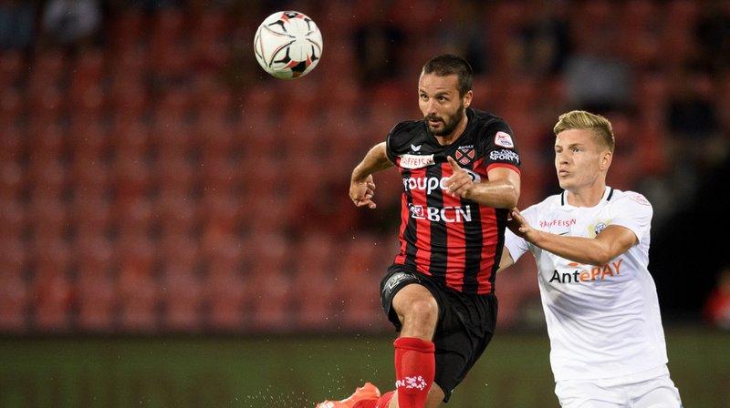 L'attaquant neuchâtelois Raphael Nuzzolo a inscrit le seul but de son équipe.
