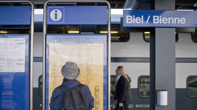 Près de la gare de Bienne, un malheureux a été détroussé.