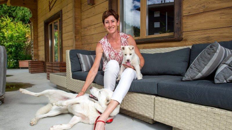 Monthey: Violaine Grau, des troupes en bleu aux attelages canins