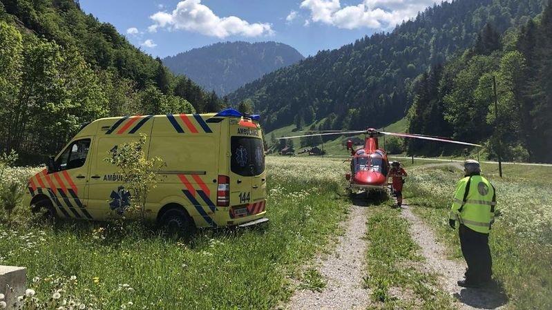 Fribourg: chute mortelle d'un ouvrier dans une gravière à Charmey