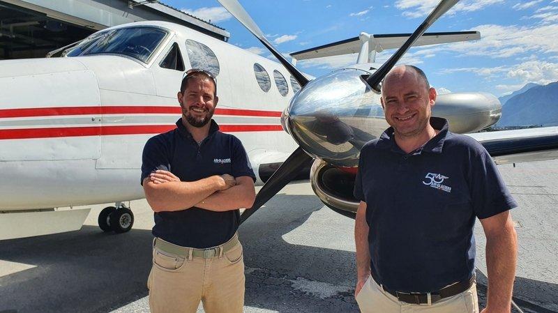 Des employés licenciés par Air-Glaciers reprennent l'activité aviation de la compagnie
