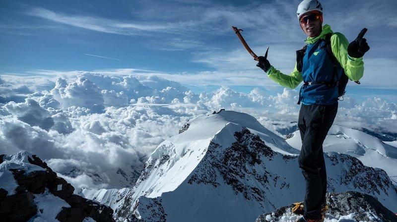 Du lac Majeur à la pointe Dufour, l'alpiniste Andreas Steindl signe un nouveau record