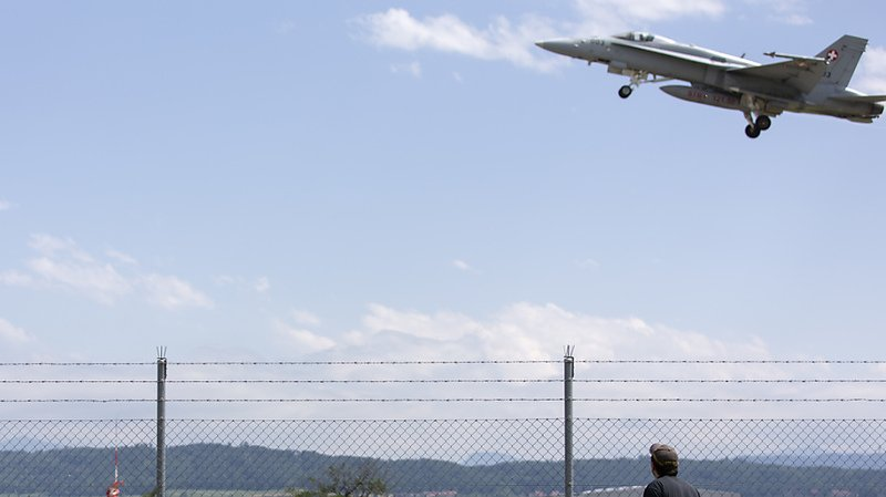 Un F/A-18 au décollage de Payerne (Photo d'illustration).