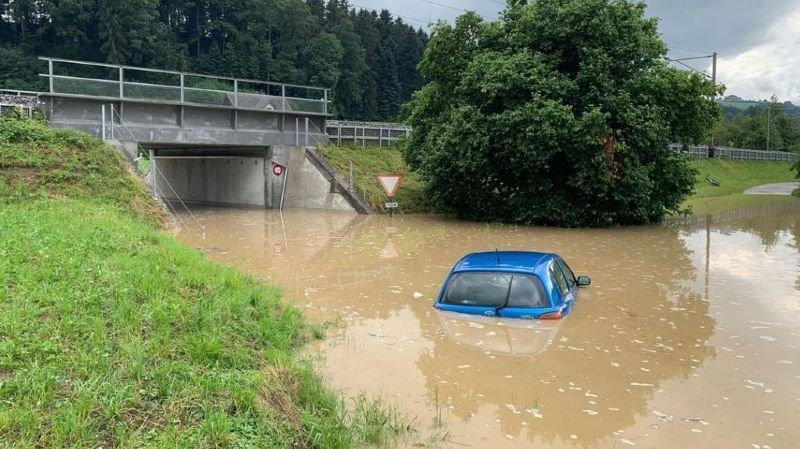 Météo: Lucerne a fait face à de nouvelles inondations, 800 pompiers sollicités