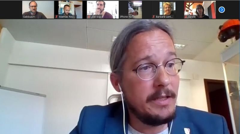 Emmanuel Amoos et la gauche ont présenté leurs arguments lors d'une conférence de presse virtuelle.