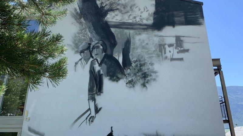 Le home de Fully s'orne d'une fresque d'envergure