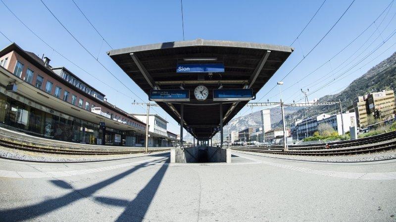 Des bus au lieu du train entre Sion et Sierre ce week-end
