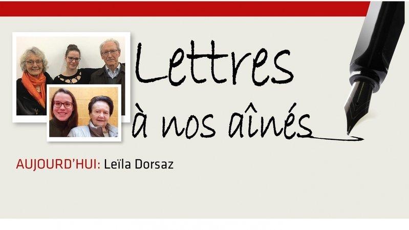 Coronavirus: la lettre aux aînés de Leïla Dorsaz
