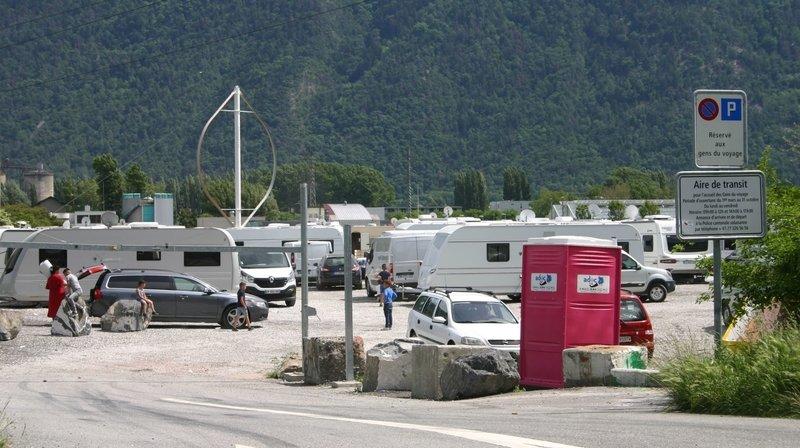 Venues de France, 35 caravanes de gens du voyage s'installent à Martigny