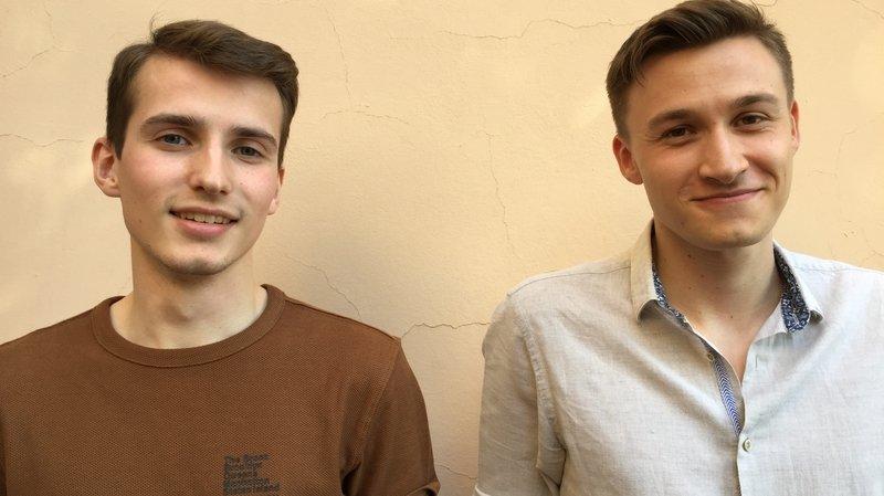 Guillaume Amos et Sylvain Robatel, nouveaux coprésidents du Parlement des jeunes.