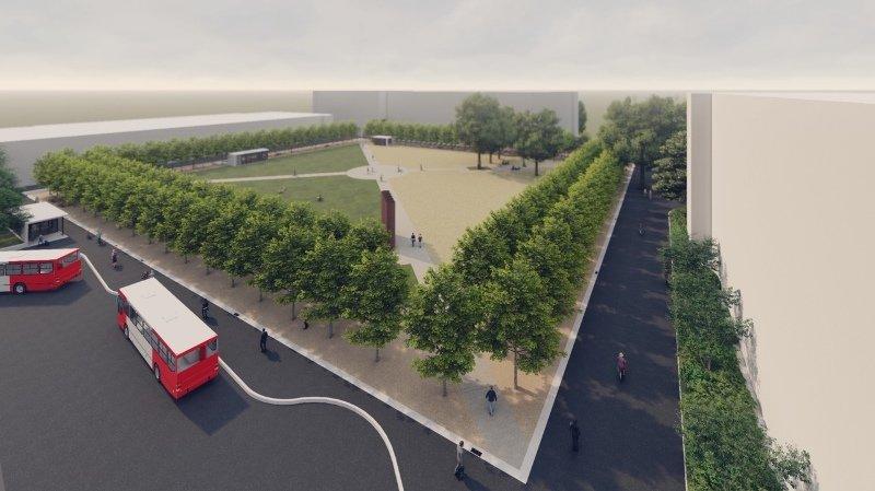 La Place du Manoir sera entièrement rénovée d'ici l'été 2021.