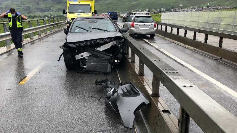 Un blessé grave sur la route cantonale conduisant à Leytron