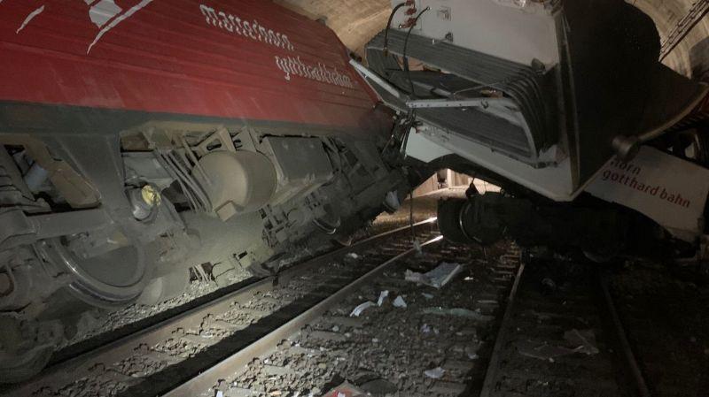 Oberwald: onze blessés dans une collision entre deux trains