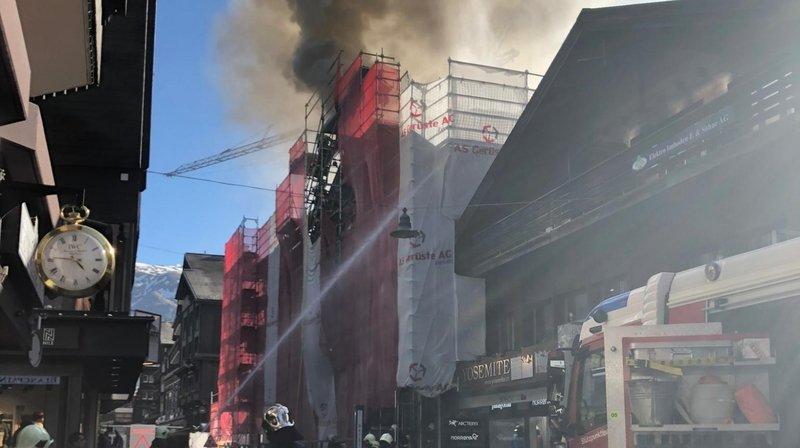 Zermatt: l'incendie a été maîtrisé, aucun blessé à signaler