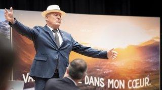 Valais: pour son départ, l'ex-Grand Baillif pousse la chansonnette
