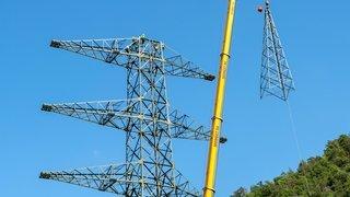 La ligne THT Chamoson-Chippis pourrait être déplacée, mais après la construction des derniers pylônes