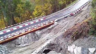 Val d'Hérens: nouvelle étape dans les travaux qui surplombent le torrent de Corniole