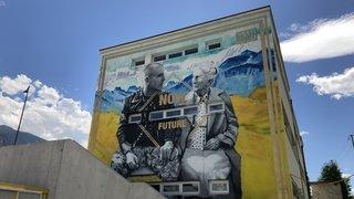 Sierre: une fresque géante orne la paroi de l'ASLEC